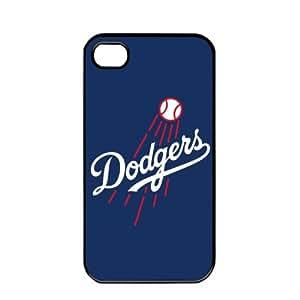 2015 CustomizedMLB Major League Baseball Los Angeles Dodgers Apple iPhone 4 / 4s TPU Soft Black or White case (Black)