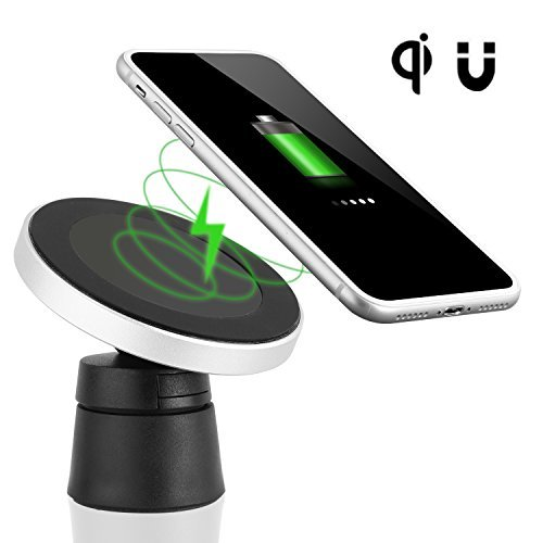 Renbon Wireless Car Charger W5,Magnetic Car Wireless Charger Mount,Wireless Charging for iPhone X iPhone 8/8 Plus, Samsung Galaxy Note 8/S 8/S 8+/S 7/S 6 Edge+/Note 5 and All Q I-Enabled Devices by Renbon