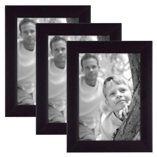 MCS 5x7 Inch Flat-Top Frame 3-Pack, Black (46707) Flat Black Frame