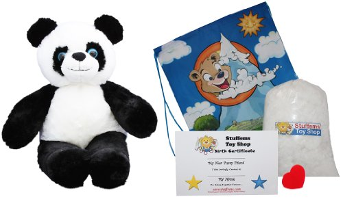 Make Your Own Stuffed Animal Panda - No Sew - Kit With Cute Backpack! (Sew Your Own Bear compare prices)
