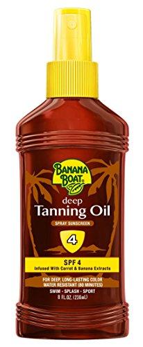 Banana Boat Sunscreen Dark Tanning Oil with Carrot and Banana Extract Sun Care Sunscreen Spray- SPF 4, 8 Ounce