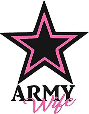 Army Wife vehicle or home decor decal, custom wall decor, vehicle decals and stickers.