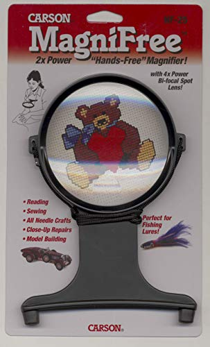 - Carson MagniFree 2x Hands-Free Crafting Magnifier with 3.5x Spot Lens (HF-25)