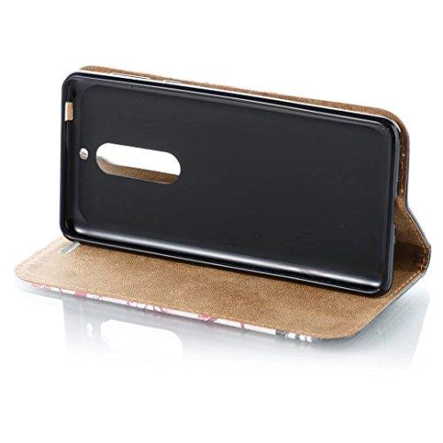 COWX Nokia 5 Hülle Kunstleder Tasche Flip im Bookstyle Klapphülle mit Weiche Silikon Handyhalter PU Lederhülle für Nokia 5 Tasche Brieftasche Schutzhülle für Nokia 5 schutzhülle OQAYRYrAra