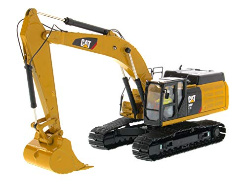 (Diecast Masters CAT Caterpillar 349F L XE Hydraulic Excavator with Operator High Line Series 1/50 Diecast Model 85943)