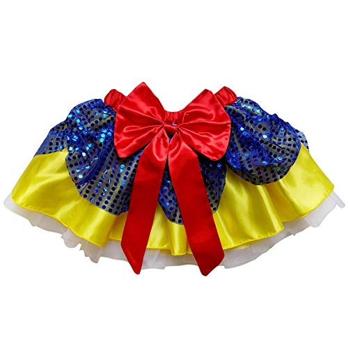 Sparkle Running Costume Skirt Race Tutu, Costume, Princess, Ballet, Dress-Up, 5K (XL (One Size for Plus), Snow White) -