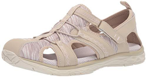 Dr. Scholl's Shoes Women's Andrews Fisherman Sandal, Moon Beige Nubuck/Fabric, 7 M US
