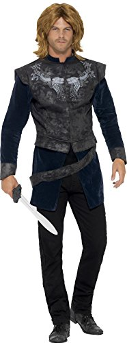 [Smiffy's Men's Medieval Master Deluxe Costume, Jacket and Belt, Tales of England, Serious Fun, Size M,] (Medieval Mens Costumes)