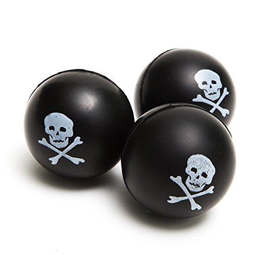 OTC 12 Pirate Skull and Crossbones Squeeze - Skull Ball Squishy