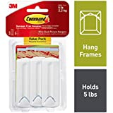 Command Wire-Back Hangers, Indoor Use, 3 hangers, 6 strips, Decorate Damage-Free (17043-ES)
