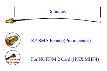 10 inches UFL to SMA M.2 NGFF U.FL to RP-SMA Female MHF4 Ipex Connector Pigtail WiFi Antenna Extension Cable 4 Pcs