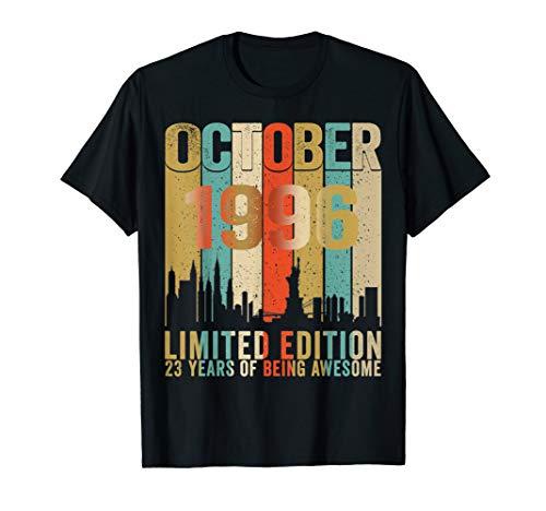Vintage October 1996 Shirt 23 Year Old Tee 1996 Birthday T-Shirt