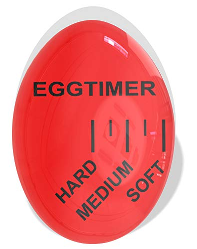Mevis Line Egg Timer | Color Changing Egg Timer | For Boiling Soft or Hard Boiled Egg, Bpa Free ()