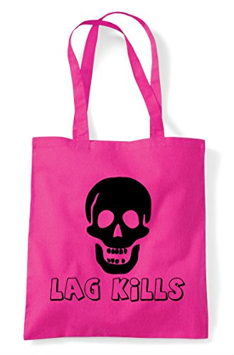 Statement Icon Shopper Skull Gamer Kills Tote Gaming Lag Fuschia Bag qXpZaZ