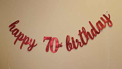 All About Details Happy 70th Birthday Cursive Banner