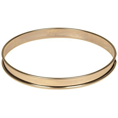 Matfer Bourgeat 371615 Plain Stainless Steel Tart Ring, 9.5 Diameter by Matfer Bourgeat