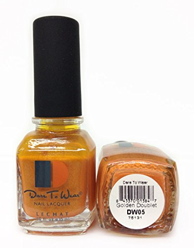 LECHAT Dare to Wear Nail Polish, Golden Doublet, 0.500 Ounce