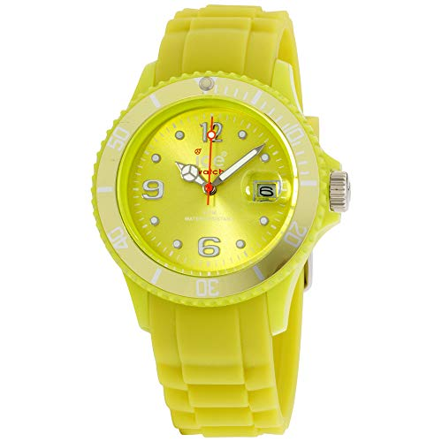 - Ice Sili Yellow Dial Silicone Strap Unisex Watch SIEVUS10