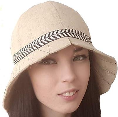 Natalya Kiseleva Russian Sauna Hat Wool Felt