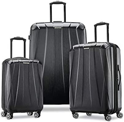 Samsonite Centric 2 Hardside Expandable Luggage with Spinner Wheels, Black, Checked-Medium 24-Inch