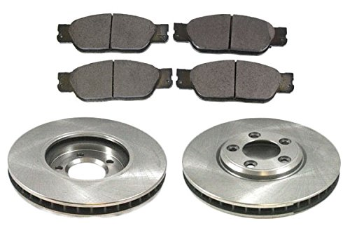 Front Disc Brake Pad & Rotor Kit Set for Ford Thunderbird Jaguar S-Type Lincoln (Lincoln Ls Rotors)