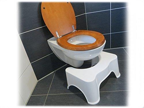 rukauf HQ medizinischer Toilettenhocker Toilettenstuhl Toilettenhilfe für leichtere Darmentleerung / optimale Haltung auf dem Klo