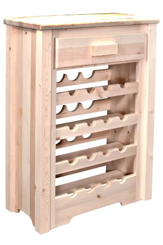 Montana Woodworks MWHCWRV Homestead Collection Wine Cabinet, Clear Lacquer Finish