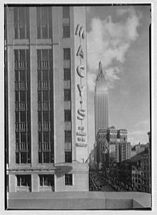 Photo: R.H. Macy & Co.,business in New York City. Sign,Empire State - City Macy's York In New