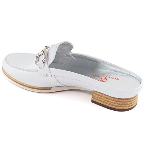 in Brazil NY Park Genuine Joseph Napa Marc Made White Casual Fashion Shoes Mule Womens Ave Leather It44x
