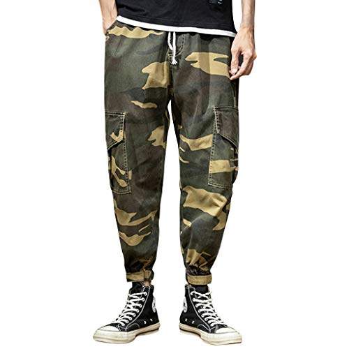 Camouflage Men's Overalls Multi-Pocket Trousers Summer Leisure Fashion