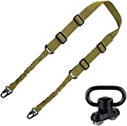 BOOSTEADY 2 Point Rifle Sling, Adjustable Strap Multi Usage Gun Sling with QD Swivel Mount Base for Outdoor Sp