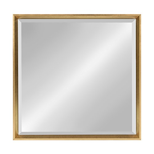 - Kate and Laurel Calter Framed Wall Mirror 28x28 Gold