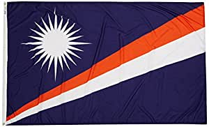 Annin Flagmakers 195524 Nylon SolarGuard Nyl-Glo Marshall Islands Flag, 5 x 8'