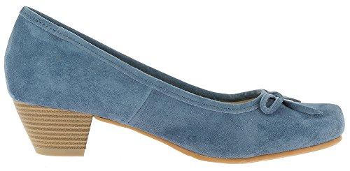 Hirschkogel by Andrea Conti 3003401 - Damen Pumps Elisa mit Schleife - Jeansblau Jeansblau