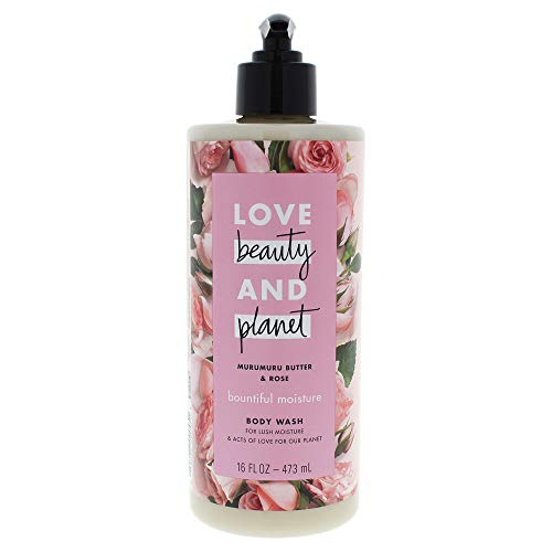 Beauty Body Wash - Love Beauty and Planet Murumuru Butter and Rose Body Wash and Planet for Unisex, 16 Ounce