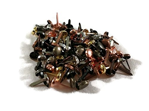Assorted Metallics Copper Bronze Gold Mini Round Scrapbooking Brads