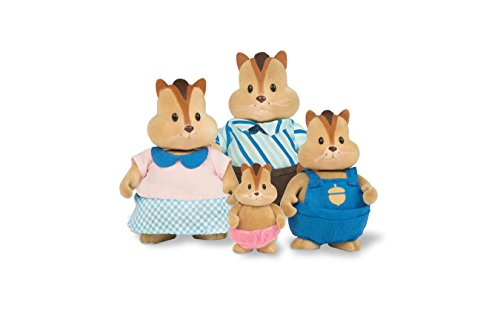 Li'l Woodzeez Scamperscoots Chipmunk Family Set with Storybook