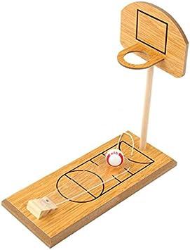 REFURBISHHOUSE Juego de Baloncesto de Escritorio Juego de Baloncesto PortáTil de Mesa DiversióN de Madera Deportes Novedad Juguete Viaje Familiar U Juego de Oficina para Ni?Os Adultos: Amazon.es: Juguetes y juegos