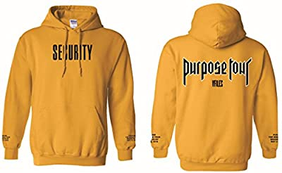 Justin Bieber Purpose Tour Security Hoodie (L)