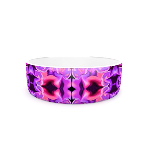 KESS InHouse Nina May Cerazza Purple Pink Digital Pet Bowl, 7  Diameter