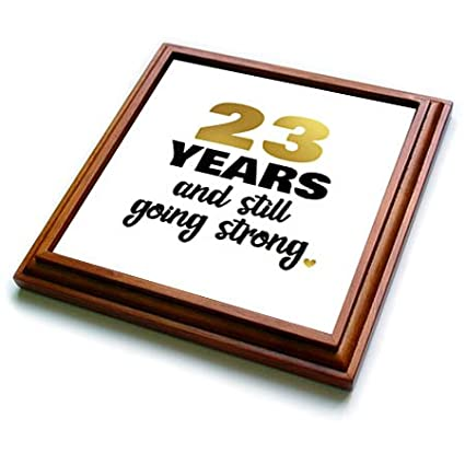 8x8 Trivet with 6x6 ceramic tile 3dRose Janna Salak Designs Anniversary 23 Year Anniversary Still Going Strong 23rd Wedding Anniversary Gift trv/_274366/_1