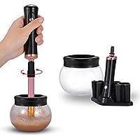 ADDSMILE Limpiador Y Secador Eléctrico Para Brochas De Maquillaje de 360 Grados de Rotación con 8 Cuellos Eléctrico Automático Máquina para la Mayoría de Brochas Cosméticos