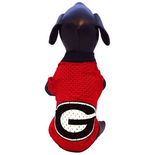 NCAA Georgia Bulldogs Athletic Mesh Dog Jersey (Team Color, Medium)
