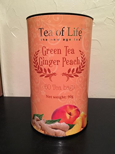 English Tea Shop 60 Tagged Tea Bags (Green Tea Ginger Peach) (Ginger Peach Green Tea)