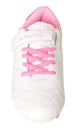 Big Little Kid Gavin Soccer Up White Lace Girls Kid Shoes Lightweight FBxFfq8
