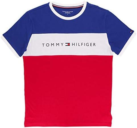 コットン ロゴ 半袖 Tシャツ TOMMY HILFIGER 【TOMMY ORIGINAL】 COTTON CN TEE SS LOGO FLAG 男性 メンズ