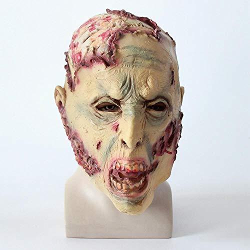 Littlefairy Mask,Zombie Mask Halloween Horror Wig Shaped face
