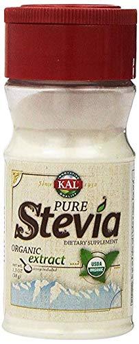 KAL, Pure Stevia Organic Extract, 2 Pack (1.3 Oz Each) KAL