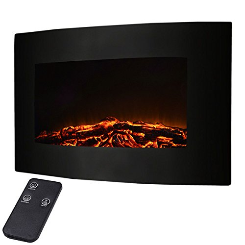 Giantex 35 inches Xl Large, Adjustable Electric 1500w Wall Mount, remote with Fireplace Heater