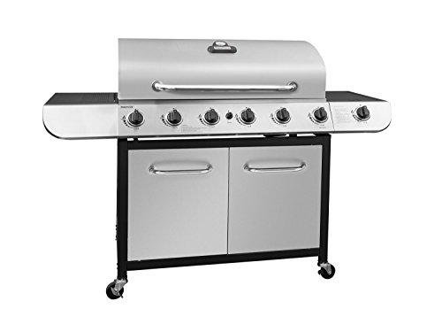 Gas Grill Additional Side Shelf (Royal Gourmet Classic 6-Burner Stainless Steel LP Gas Grill with Sear Burner 71,000 BTU)